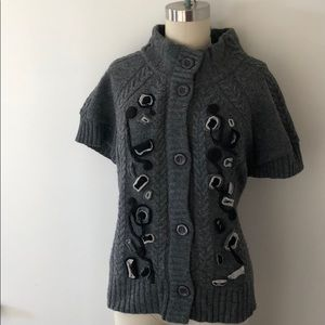 Anthropologie gray sweater l